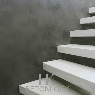 Betonstuc wand muren achterwand keuken hk betonlook - Betonlook wand ...