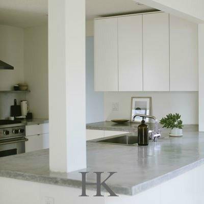 eiland keuken met betonlook